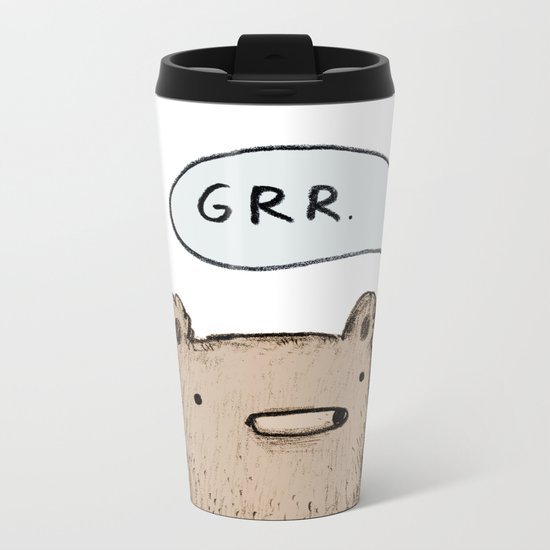 Growling Bear Metal Travel Mug