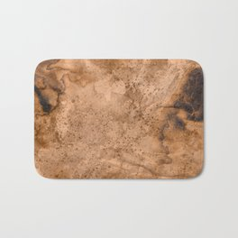Acrylic Coffee Stained Paper Bath Mat