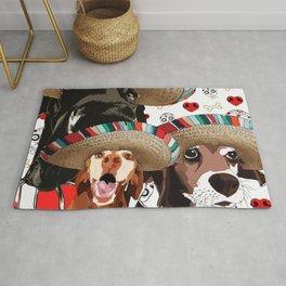Cinco de Dogs-Great Dane, Beagle, Vizsla Rug