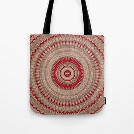 Textured Red Madala Tote Bag
