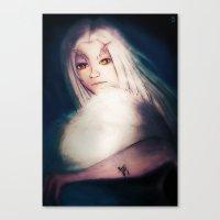 dark souls Canvas Prints featuring Priscilla [Dark Souls] by JeyJey Artworks