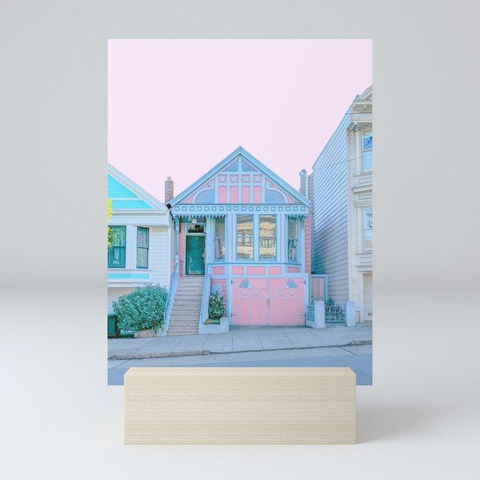 San Francisco Painted Lady Victorian House Mini Art Print