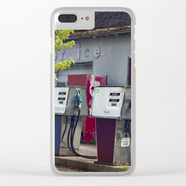 Service Stations of the Past Clear iPhone Case