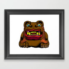 LION MAN Framed Art Print