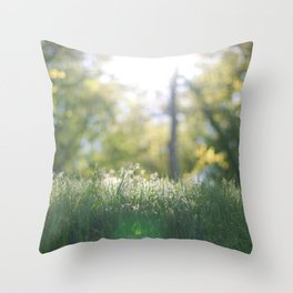 Grass in sunshine Throw Pillow