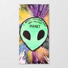 alien friends Canvas Print