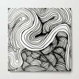 Zentangle #27 Metal Print