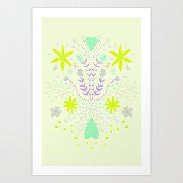 Symmetrical flora Art Print