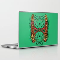tigers Laptop & iPad Skins featuring Tigers by Ornaart