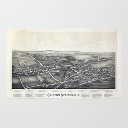 Clifton Springs - New York - 1892 Rug