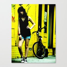 Colored  Yellow Canvas Print