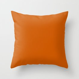Tenné (tawny) - solid color Throw Pillow