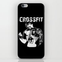 crossfit iPhone & iPod Skins featuring Crossfit by Line Jenssen