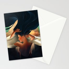 art deco girl Stationery Cards