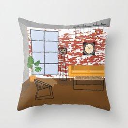 Industrial Loft Interior Throw Pillow