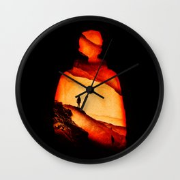 Love Aloneness Wall Clock