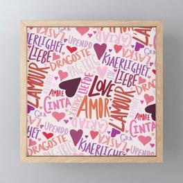 Love Languages Framed Mini Art Print