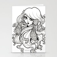 art nouveau Stationery Cards featuring Art Nouveau by Sweeney Boo