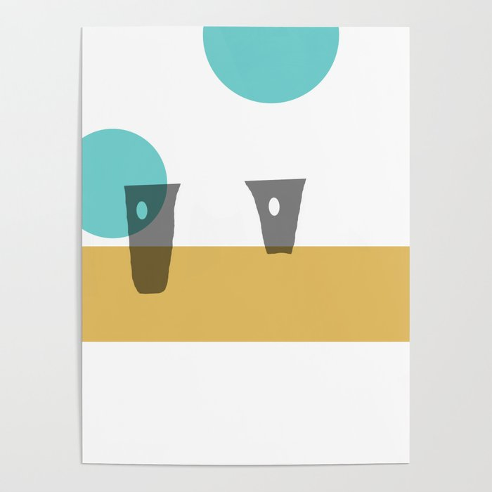 Two For Tea on a Vintage Summer Day Poster