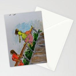 Three girls on the bridge Stationery Cards