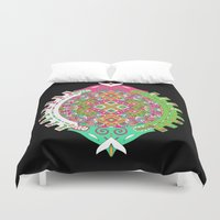 stargate Duvet Covers featuring Dimensional Tunnel by dAM 11