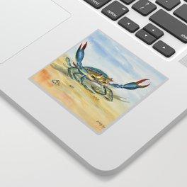 Colorful Blue Crab Sticker