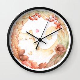 The magic circle of Autumn Cat Wall Clock