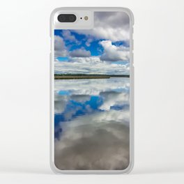 Clouds Reflected Clear iPhone Case