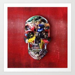 Hot Rod Skull Art Print