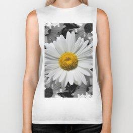 Cheerful Daisy Flower A197 Biker Tank