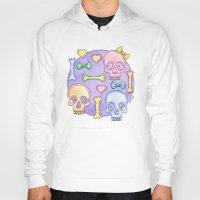 pastel goth Hoodies featuring Pastel Skulls by Tumbling Tortoises