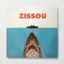 Zissou The Life Aquatic Metal Print