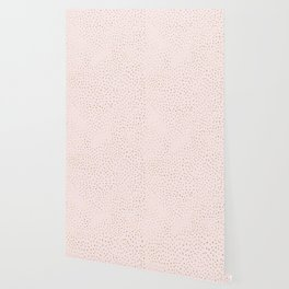 Dotted Gold & Pink Wallpaper