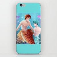 kuroko iPhone & iPod Skins featuring Kagami & Kuroko by kvei