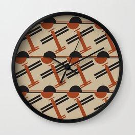 soviet pattern - constructivism Wall Clock