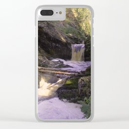 The stream in mountains Clear iPhone Case