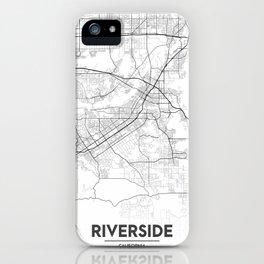 Minimal City Maps - Map Of Riverside, California, United States iPhone Case