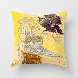 Annabeth as Athena  Throw Pillow