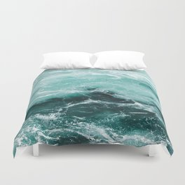 Water Photography | Sea | Ocean | Pattern | Abstract | Digital | Turquoise Duvet Cover