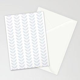 Light Grey Scandinavian leaves pattern Stationery Cards