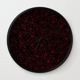 dark red music notes Wall Clock
