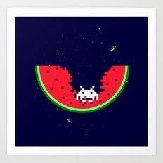 Spacemelon Art Print