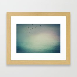 Emptiness In Between Framed Art Print