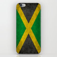 Jamaican flag, Vintage retro style iPhone & iPod Skin