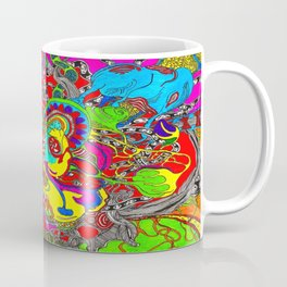 Anatomy of thought in Colour Coffee Mug