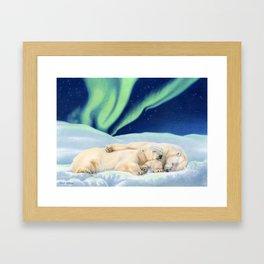 Under The Northern Lights Framed Art Print