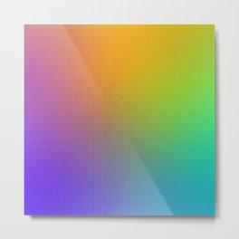 Pixel Color Gradient Metal Print