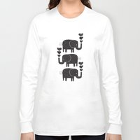 elephants Long Sleeve T-shirts featuring ELEPHANTS by Matthew Taylor Wilson