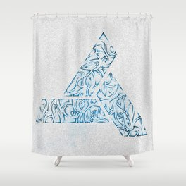 Tribal Ocean Blue Shower Curtain