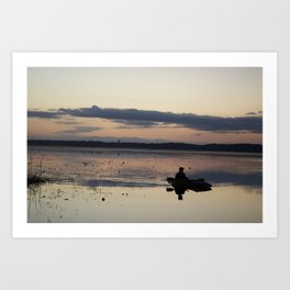 Hunting the lonely Waters Art Print